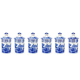 Spode® Blue Italian Spice Jars (Set of 6)