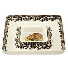 Spode® Woodland Turkey Chip and Dip