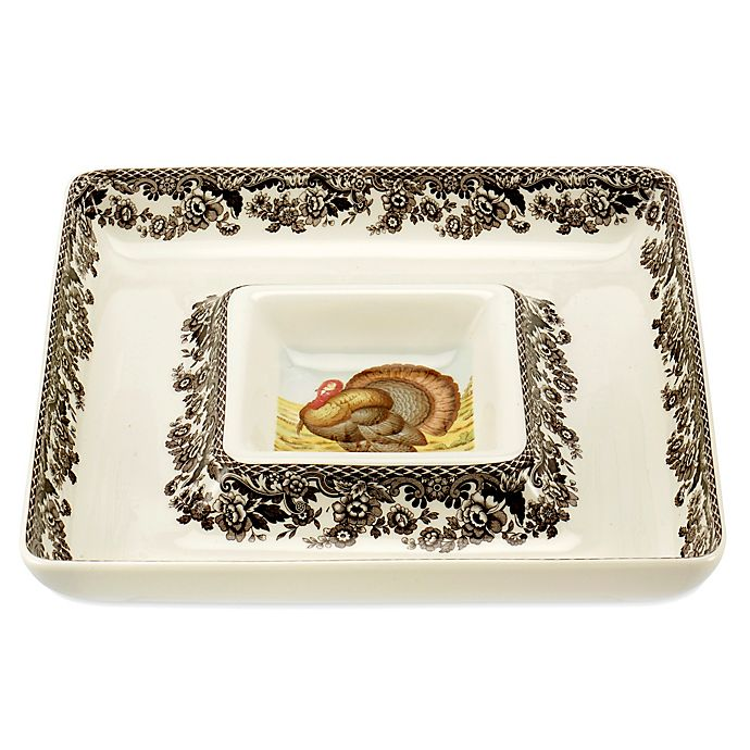 Alternate image 1 for Spode® Woodland Turkey Chip and Dip