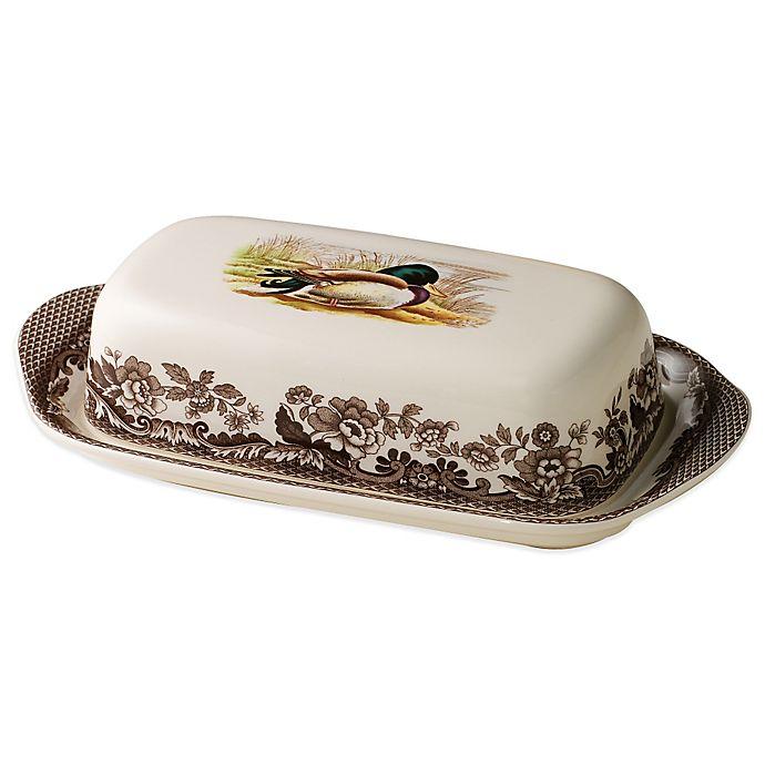 Alternate image 1 for Spode® Woodland Mallard Covered Butter Dish