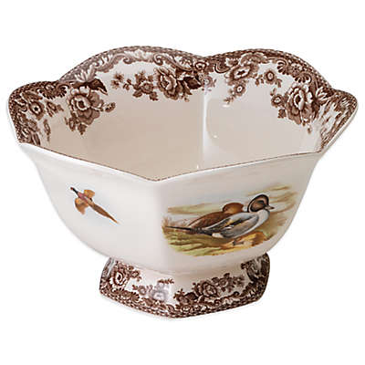 Spode® Woodland Lapwing/Quail Hexagonal Footed Bowl