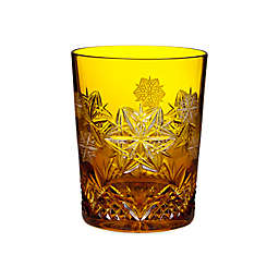 Waterford® Snowflake Wishes 2014 4th Edition Peace Mooncoin Double Old Fashioned Glass in Amber