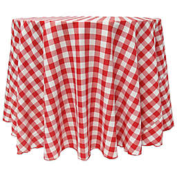 Gingham 90-Inch Round Tablecloth in Red/White