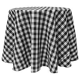 Gingham Round Tablecloth