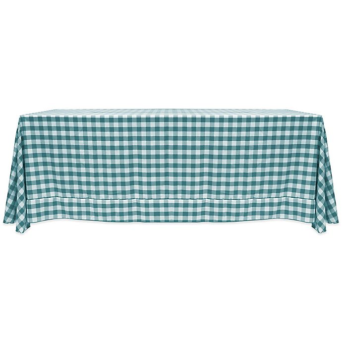 Buy Gingham Poly Check 90 Inch X 132 Inch Tablecloth In
