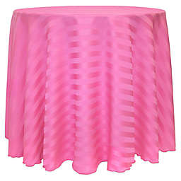 Ultimate Textile Poly Stripe 90-Inch Round Tablecloth in Watermelon