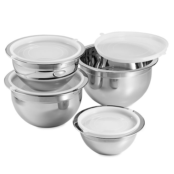 Oggi Professional Grade 4 Piece Mixing Bowl Set In