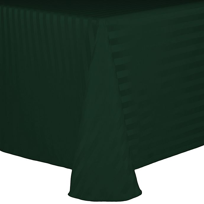 Alternate image 1 for Poly Stripe 60-Inch x 90-Inch Oblong Tablecloth in Hunter