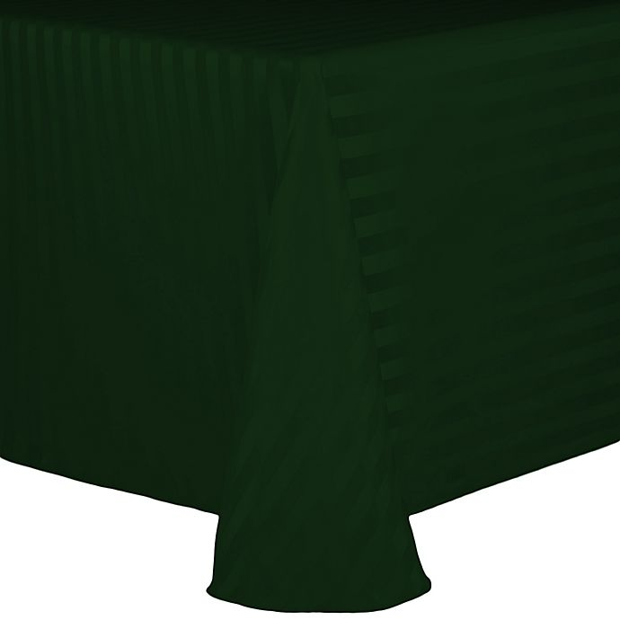 Alternate image 1 for Poly Stripe 60-Inch x 90-Inch Oblong Tablecloth in Forest
