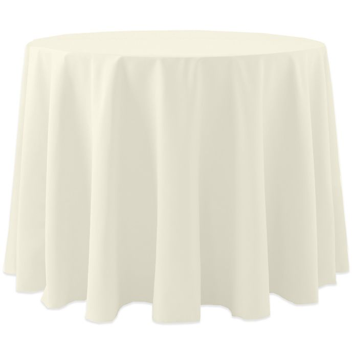 Alternate image 1 for Spun Polyester 90-Inch Round Tablecloth in Ivory