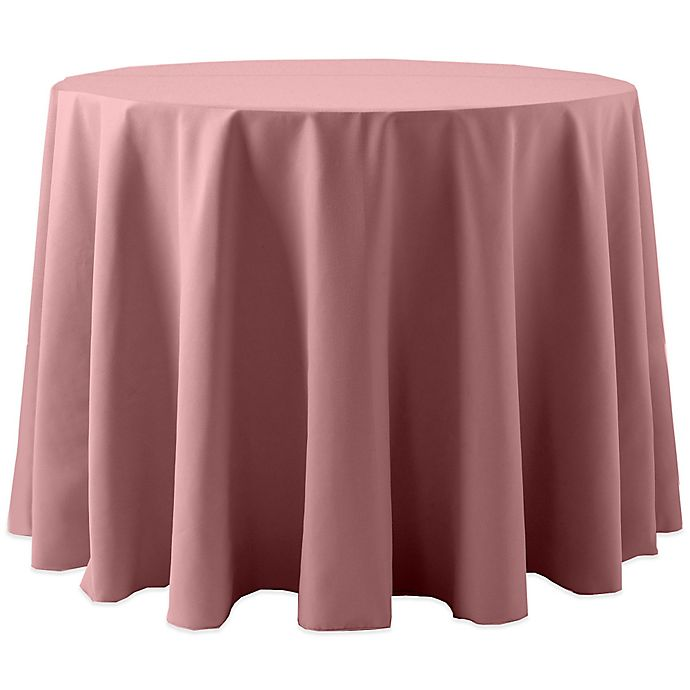 Alternate image 1 for Spun Polyester 90-Inch Round Tablecloth in Dusty Rose