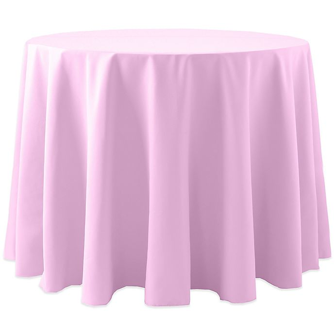 Alternate image 1 for Spun Polyester 108-Inch Round Tablecloth in Light Pink