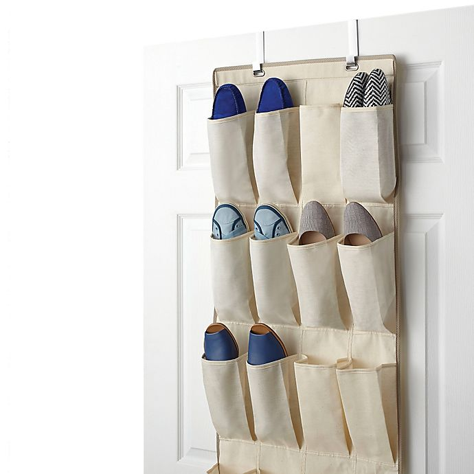 Alternate image 1 for Real Simple® 24-Pocket Over-the-Door Shoe Organizer