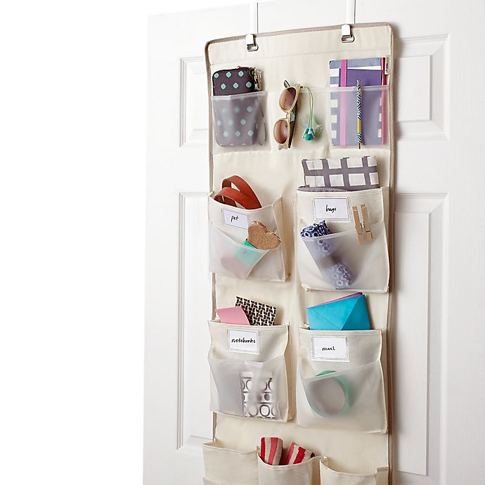 Alternate image 1 for Real Simple® 29-Pocket Over-the-Door Multipurpose Organizer