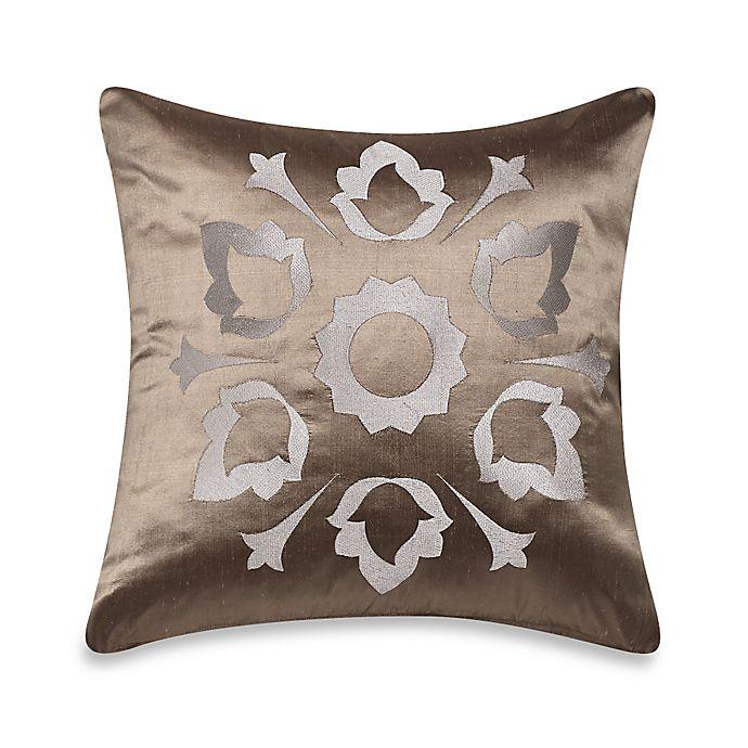 Alternate image 1 for Frette at Home Marano Pure Silk Cushion Cover in Stone