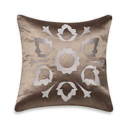 Frette at Home Marano Pure Silk Cushion Cover in Stone