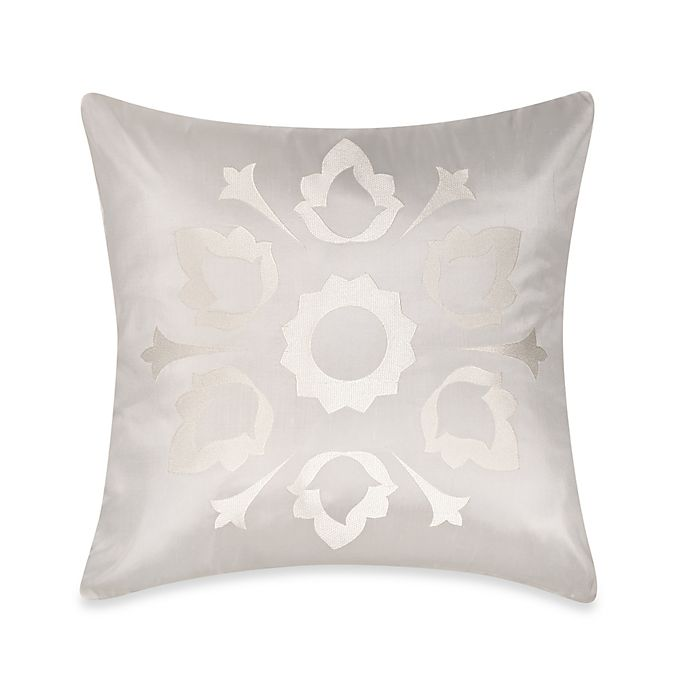 Alternate image 1 for Frette At Home Marano Pure Silk Square Throw Pillow in Off-White