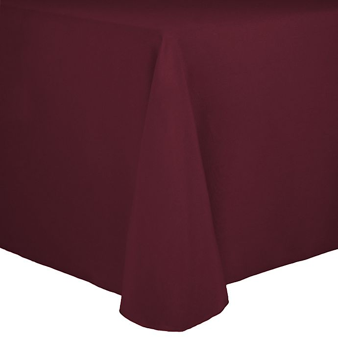 Alternate image 1 for Spun Polyester 90-Inch x 156-Inch Oblong Tablecloth in Burgundy