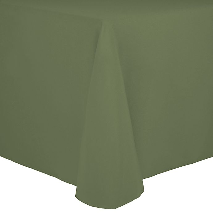 Alternate image 1 for Spun Polyester 90-Inch x 156-Inch Oblong Tablecloth in Sage