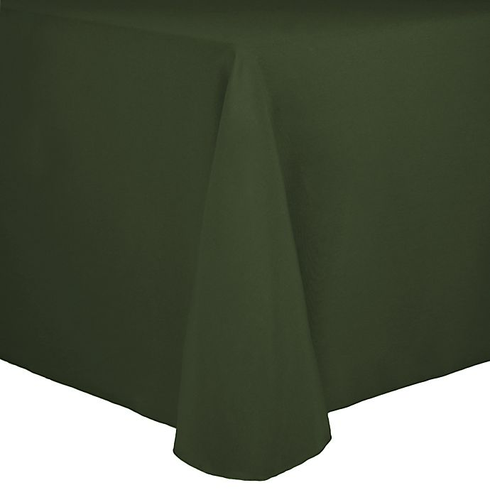 Alternate image 1 for Spun Polyester 90-Inch x 156-Inch Oblong Tablecloth in Army Green