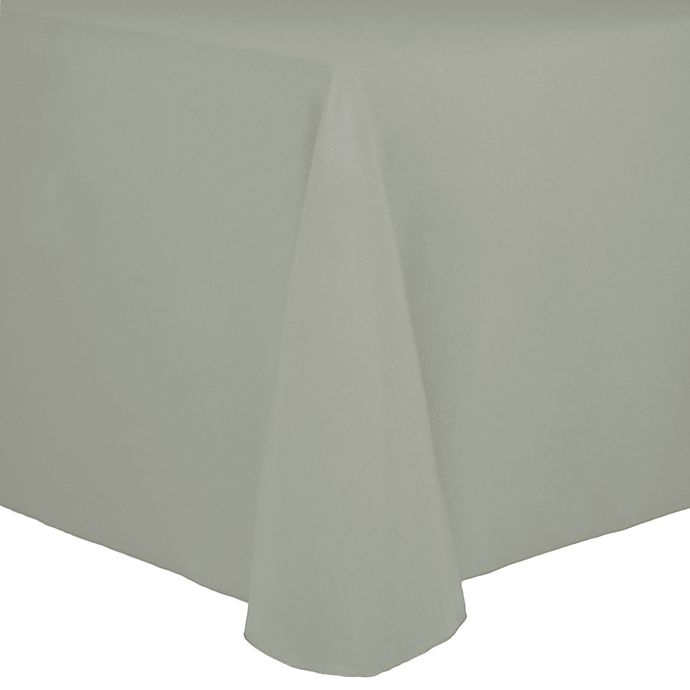 Alternate image 1 for Spun Polyester 90-Inch x 156-Inch Oblong Tablecloth in Sea Mist
