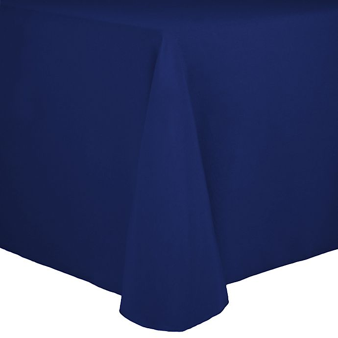 Alternate image 1 for Spun Polyester 90-Inch x 156-Inch Oblong Tablecloth in Royal