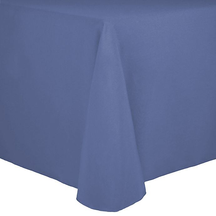 Alternate image 1 for Spun Polyester 90-Inch x 156-Inch Oblong Tablecloth in Periwinkle