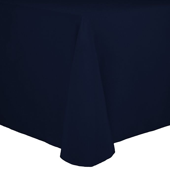 Alternate image 1 for Spun Polyester 90-Inch x 156-Inch Oblong Tablecloth in Navy