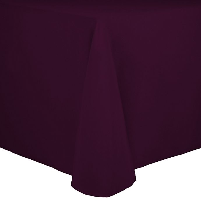 Alternate image 1 for Spun Polyester 90-Inch x 156-Inch Oblong Tablecloth in Aubergine