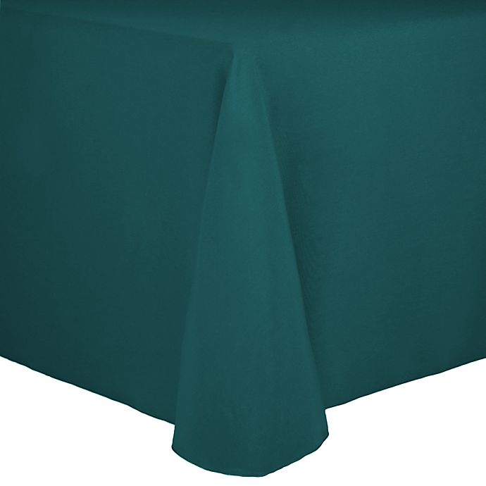 Alternate image 1 for Spun Polyester 90-Inch x 156-Inch Oblong Tablecloth in Teal