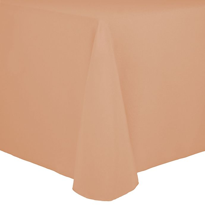Alternate image 1 for Spun Polyester 72-Inch x 108-Inch Oblong Tablecloth in Peach