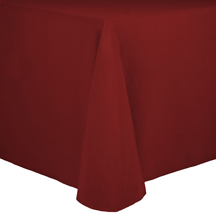 Alternate image 1 for Spun Polyester 90-Inch x 156-Inch Oblong Tablecloth in Brick