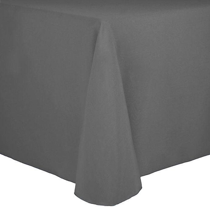 Alternate image 1 for Spun Polyester 90-Inch x 156-Inch Oblong Tablecloth in Grey