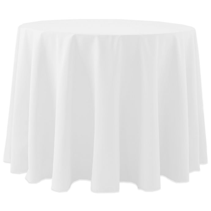 Alternate image 1 for Spun Polyester 120-Inch Round Tablecloth in White