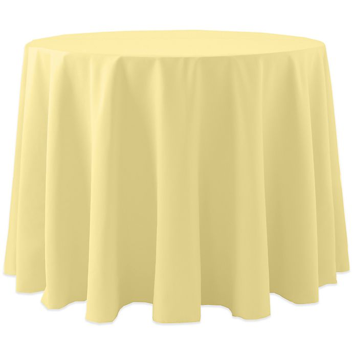 Alternate image 1 for Spun Polyester 120-Inch Round Tablecloth in Yellow