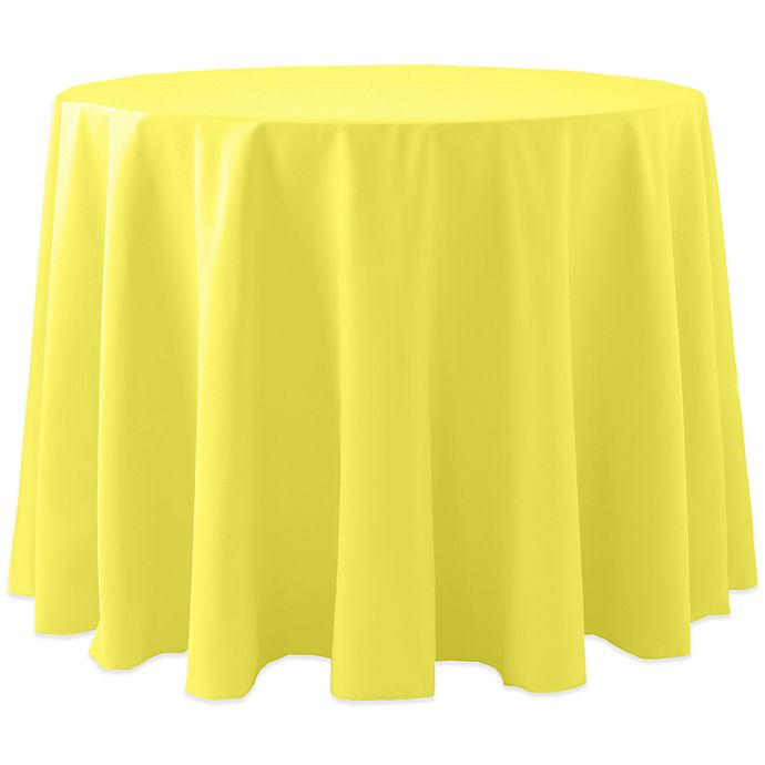 Alternate image 1 for Spun Polyester 120-Inch Round Tablecloth in Lemon