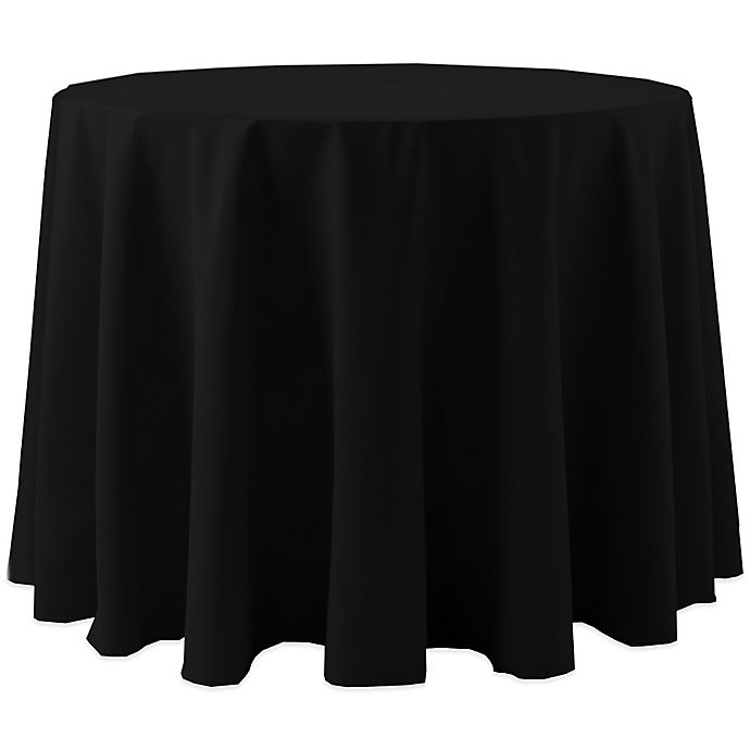 Alternate image 1 for Spun Polyester 120-Inch Round Tablecloth in Black