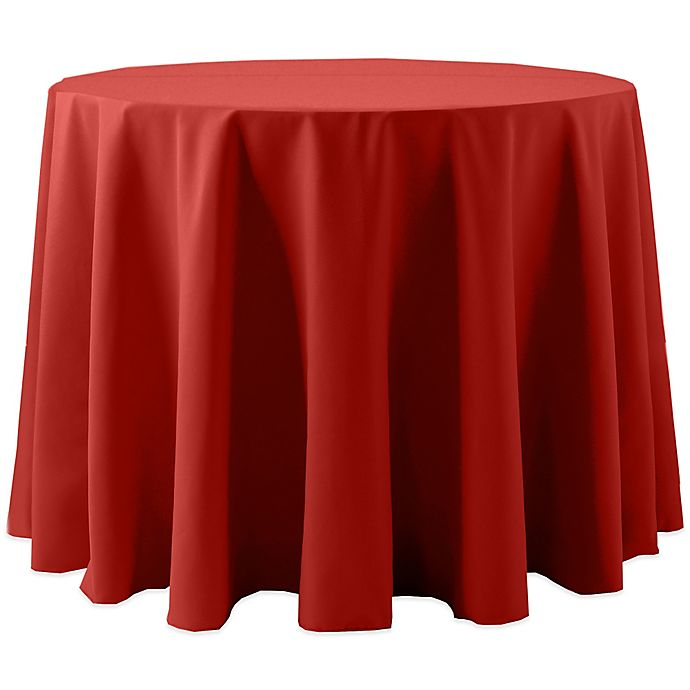 Alternate image 1 for Spun Polyester 120-Inch Round Tablecloth in Red