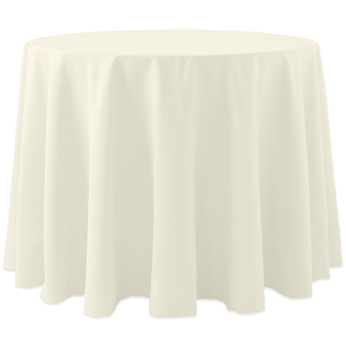Alternate image 1 for Spun Polyester 120-Inch Round Tablecloth in Ivory