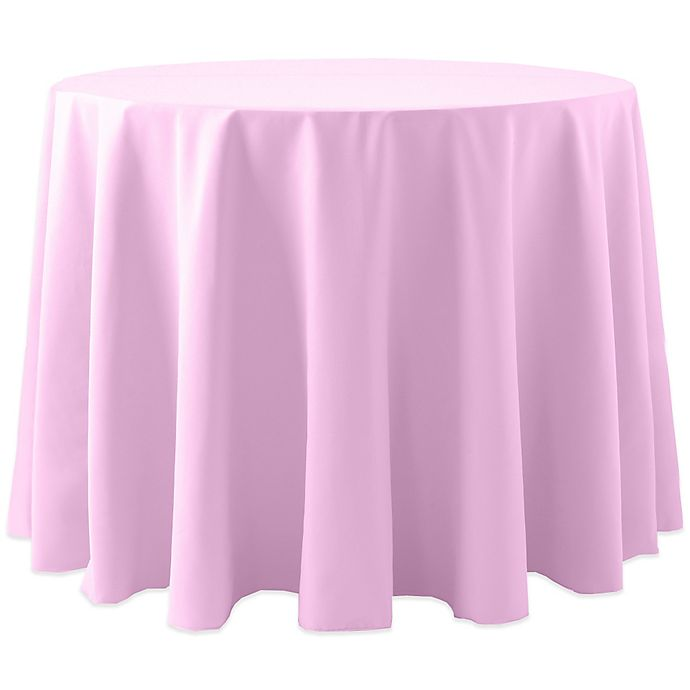 Alternate image 1 for Spun Polyester 120-Inch Round Tablecloth in Pink