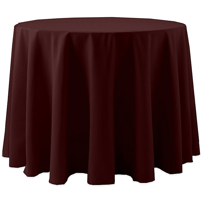 Alternate image 1 for Spun Polyester 120-Inch Round Tablecloth in Burgundy