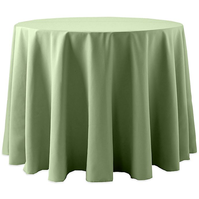 Alternate image 1 for Spun Polyester 120-Inch Round Tablecloth in Sage