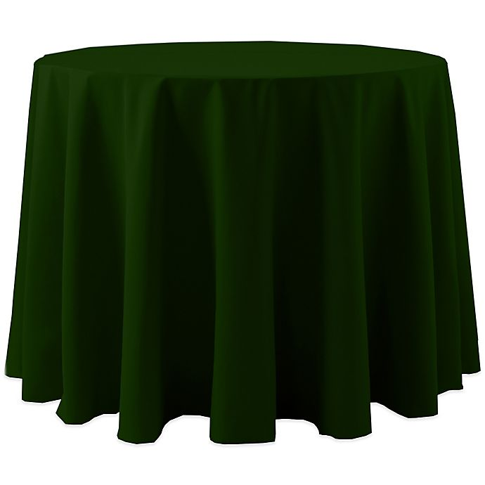 Alternate image 1 for Spun Polyester 120-Inch Round Tablecloth in Hunter