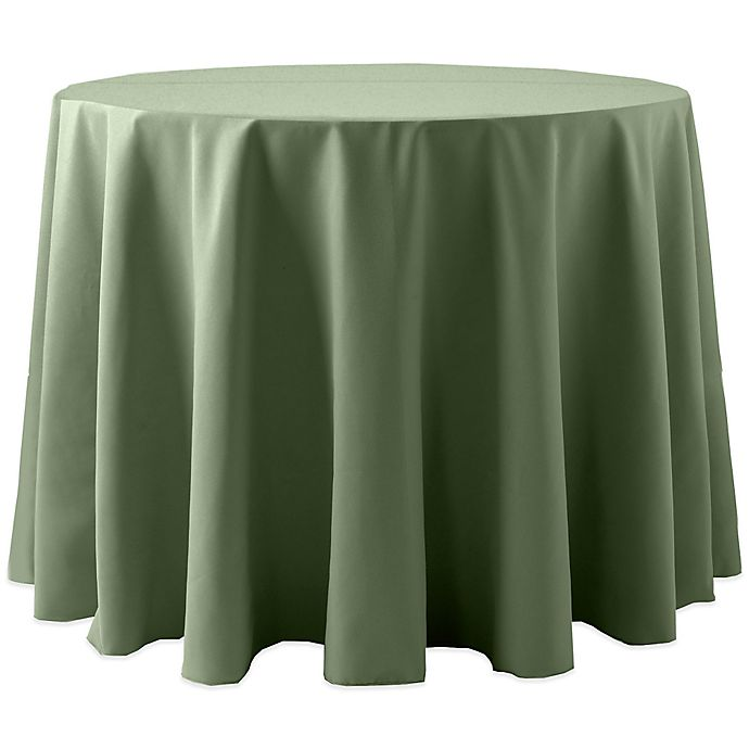 Alternate image 1 for Spun Polyester 120-Inch Round Tablecloth in Army Green