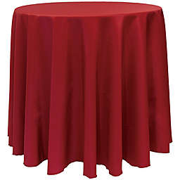 Basic Polyester 90-Inch Round Tablecloth in Cherry Red