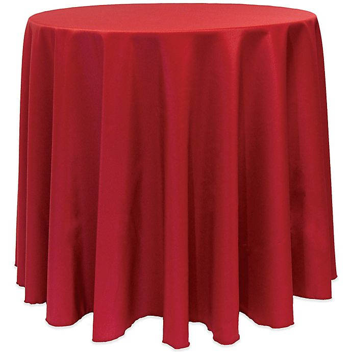 Alternate image 1 for Basic 90-Inch Round Tablecloth in Holiday Red