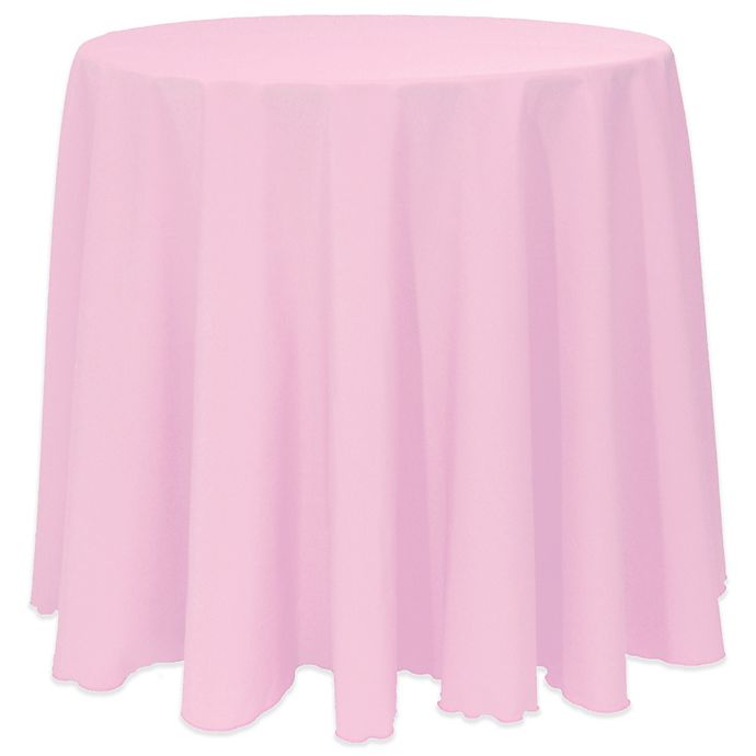 Alternate image 1 for Basic 120-Inch Round Tablecloth in Pink Balloon