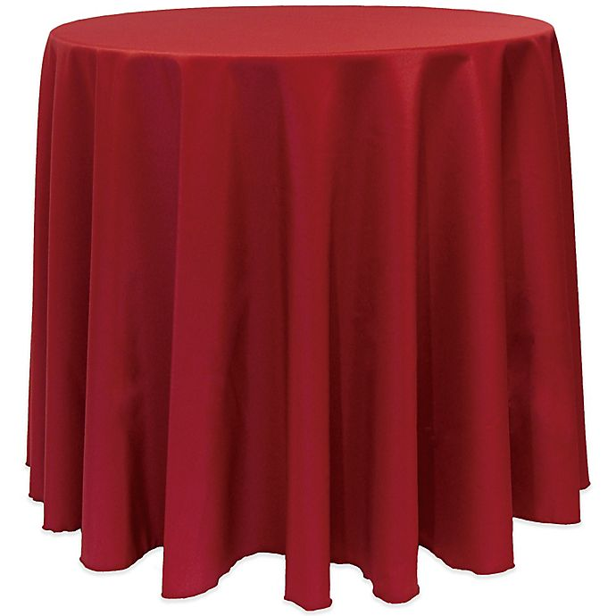 Alternate image 1 for Basic 120-Inch Round Tablecloth in Cherry Red