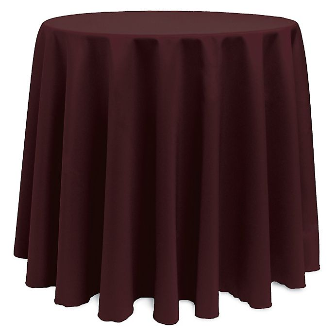 Alternate image 1 for Basic 120-Inch Round Tablecloth in Burgundy