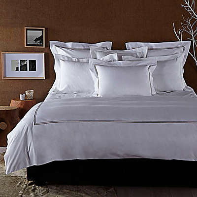 Frette At Home Piave Duvet Cover in White/Stone